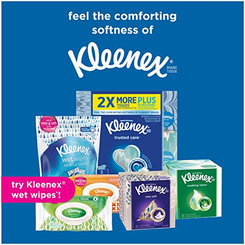 Large Product Image of Kleenex Ultra Soft Facial Tissues 130 Count (Pack of 8), Disposable Facial Tissues, Gentle and Durable, 3-Ply Thickness, Designs May Vary