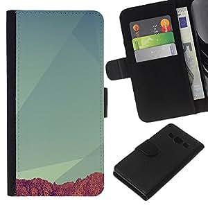 All Phone Most Case / Oferta Especial Cáscara Funda de cuero Monedero Cubierta de proteccion Caso / Wallet Case for Samsung Galaxy A3 // Geometry Mountain
