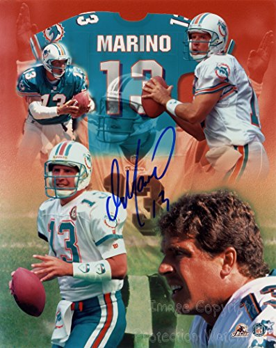 Dan Marino Miami Dolphins Football Signed Autographed 8x10 Inch Photo Print Dan Marino Photograph