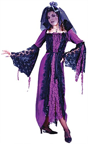 [Funworld Womens Dracula Bride Purple Fancy Halloween Party Costume, One Size] (Bride Of Dracula Costumes)