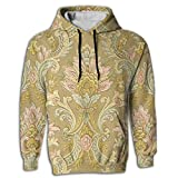 Paskcc Men's Hoodie Fashion Hooded Digital Print Egyptian Persian Traditional University