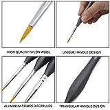 Mitini 7 Pieces Detail Paint Brush Set Miniature
