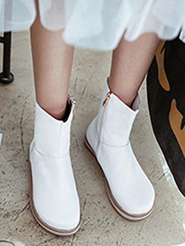 Bottes Talon Enceinte Plat Chaussures Blanc Confort De Femme Bottines Neige Aisun qHB8gw