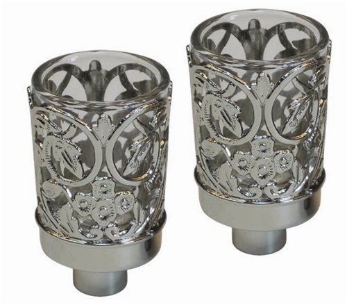Majestic Giftware CH300 Neronim Candle Holder, 3-Inch, Silver Plated by Majestic (Giftware Votive)