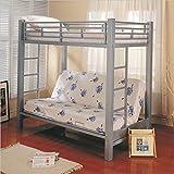 Sherrill Twin over Futon Metal Bunk Bed Silver