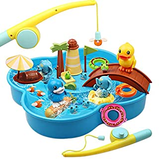 Lydaz Water Toys for Kids - Fun Bath Toys for Toddlers Boys & Girls - Imaginative Magnetic Fishing Games - Water Table Toys Gifts for 3 4 5 6 Years Old