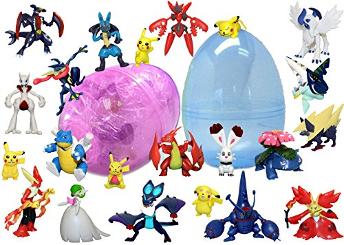 6 Pokemon Figurines Inside 1 Jumbo 6 Inch Egg - Pikachu and Friends - Find Your Favorites - Assorted Colors and Characters - Prefilled to Save You Time Toys For Pokemon Lovers
