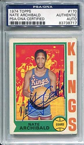 Nate Archibald Autographed 1974 Topps Card (PSA/DNA) - Basketball Autographed Cards