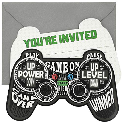 Party Invites Online (Blue Panda 24-Pack Video Game Birthday Party Invitation with Envelopes, 5 x 7)