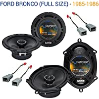 Ford Bronco (Full Size) 1985-1986 Speaker Upgrade Harmony R65 R68 Package New
