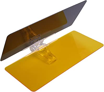 2 in 1 Car Day and Night Anti-Glare Visor 2019 Universal Anti-Dazzle UV-Filtering Protection Windshield Extender Driving Visor Day Night Sunshade Mirror Goggles Shield Totalmall Car Sun Visor