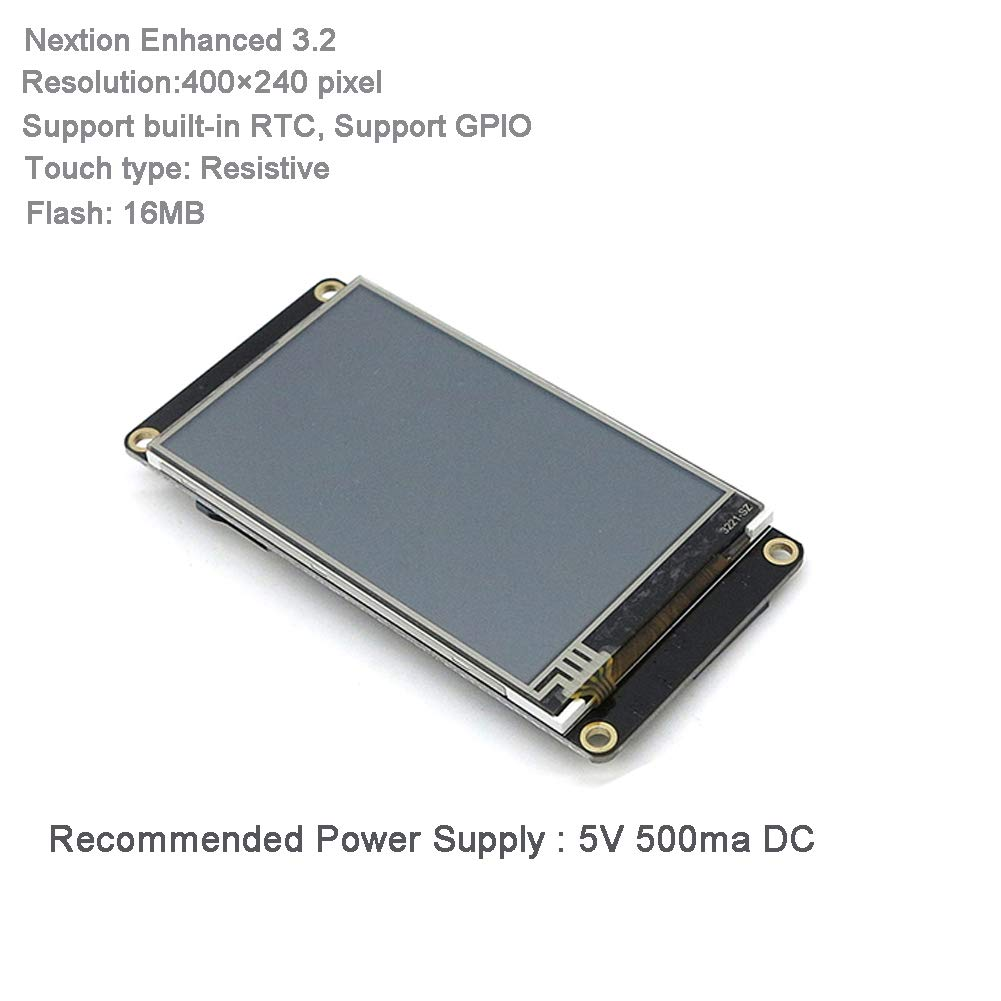 Nextion Enhanced 3.2'' HMI Touch Display 400×240 pixel Screen Panel NX4024K032 with I/O Extended Expansion Board for Arduino Raspberry Pi by WIshioT (Image #2)