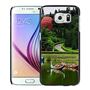 Fashionable Custom Designed Samsung Galaxy S6 Phone Case With Yuntai Garden_Black Phone Case