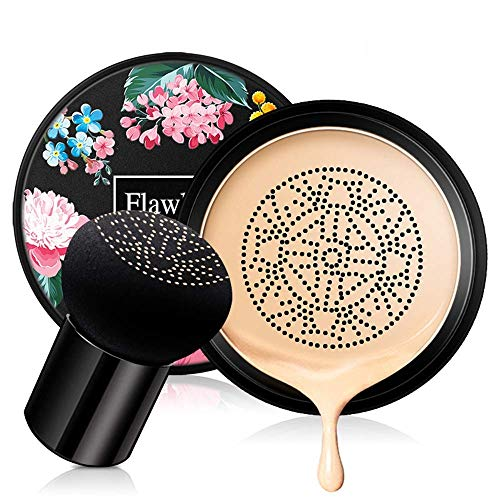 Mushroom Head Air Cushion BB Cream,Concealer Lasting Nude Makeup Moisturizing Pigment CC Liquid Foundation, Even Skin…