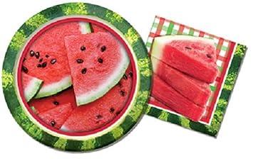 Watermelon Paper Plates u0026 Watermelon Napkins - Summer Party BBQ Picnic - 3 Styles  sc 1 st  Amazon.com & Amazon.com : Watermelon Paper Plates u0026 Watermelon Napkins - Summer ...