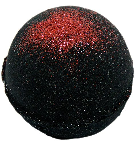Intimate Bath and Body 5.5 oz Deep Black Chasm with Red Glitter Bath Bomb