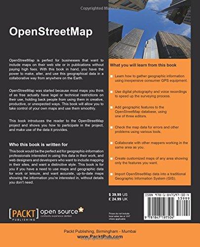 OpenStreetMap: Amazon co uk: Jonathan Bennett: 9781847197504