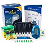 Blood Ketone Meter & Monitoring System - Includes Everything Needed For Ketosis Testing & Ketogenic Diet Tracking (Strips are not compatible with the precision xtra blood ketone meter)