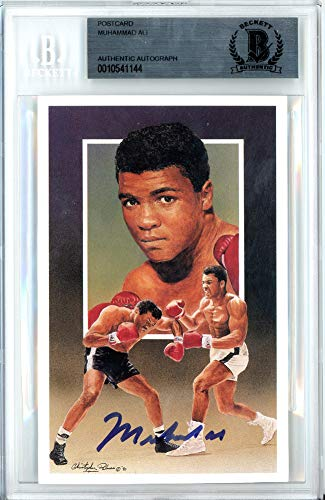 Muhammad Ali Autographed Signed Auto 3.5x5.5 Postcard Beckett Certified