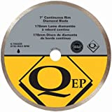 QEP 6-7003Q Continuous Rim Diamond Blade, 7-Inch Diameter, 5/8-Inch Arbor, Wet Cutting, 8730 Maximum RPM