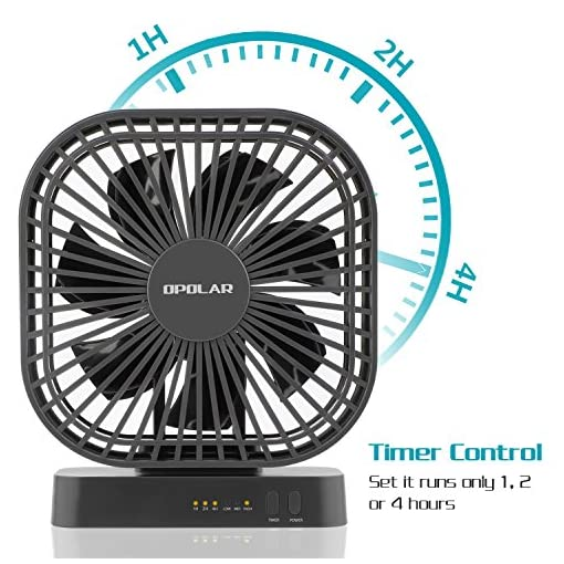 Opolar 5 inch desk fan with timer usb or aa battery operated 3 free shipping free shipping fandeluxe Choice Image