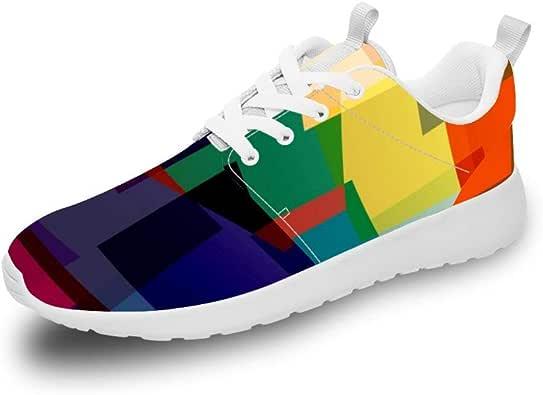 Mesllings Zapatillas de Running Unisex Multicolor, superpuestas, Ligeras, para Deportes al Aire Libre: Amazon.es: Zapatos y complementos