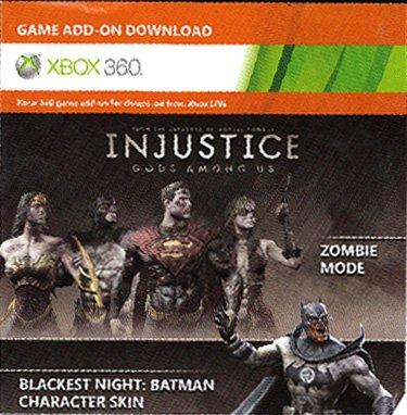 Injustice : Gods Among Us - Zombie Mode & Skins - Blackest Night Skins & Missions DLC Code Card XBOX 360 (Injustice Gods Among Us Codes Xbox 360)