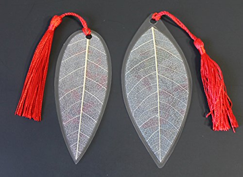 how to make a leaf bookmark