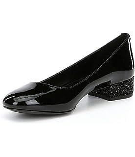 b8c4824397eb Michael Michael Kors Womens Cher Block-Heel Kitten Pump Leather Closed Toe  Cl.