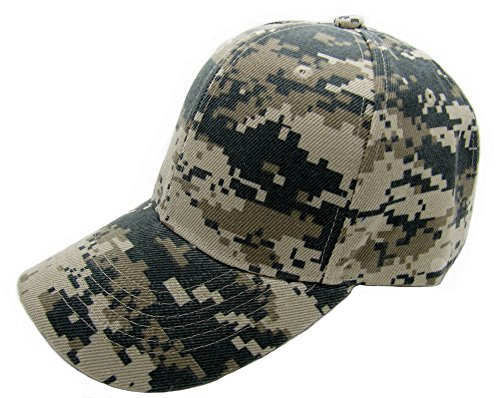 QML Plain Baseball Blank Cap Solid Color Velcro Adjustable ( 30 Colors ) (DESERT CAMOUFLAGE) (Hats For Cheap)