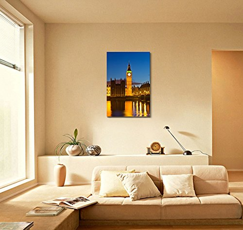 Beautiful Scenery Landscape Big Ben at Night UK Wall Decor