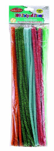 Creative Arts by Charles Leonard Chenille Stems with Bumps, 6 MM x 12 Inch, Assorted Colors, 48/Bag (65048)