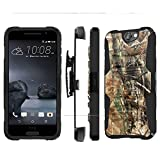 Htc One A9 Aero Case, [NakedShield] [Black/Black] Heavy Duty Holster Armor Tough Case - [Hunter Camouflage] for Htc One A9 Aero