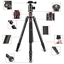 Neewer Carbon Fiber 66inches/168 centimeters Camera Tripod Monopod with 360 Degree Ball Head,1/4 inch Quick Shoe Plate,Bag for DSLR Camera,Video Camcorder,Load up to 26.5 pounds/12 kilograms