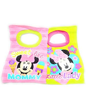 Minnie Mouse Toddler Baby Girls 2 Pack Bibs