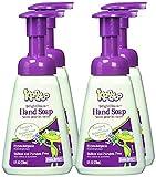 Kandoo BrightFoam Moisturizing Kids Foaming Hand Soap with Vitamin E, Magic Melon Scent, 8 Fl Oz (Pack of 4)