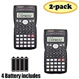 SUNYANG 2 Packs, 2-Line Engineering Scientific Calculator Function Calculator Student Teacher