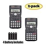 SUNYANG 2 Packs, 2-Line Engineering Scientific Calculator Function Calculator Student Teacher