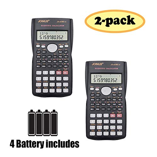 SUNYANG 2 Packs, 2-Line Engineering Scientific Calculator Function Calculator Student Teacher by SUNYANG
