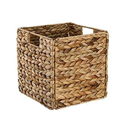 Organize It All Hand Woven Natural Hyacinth Collapsible Storage Basket with Handles - The organize it all water hyacinth basket is a storage basket that is ideal for organizing your home or office space. The collapsible feature that makes it easy to store away or transport. They have a beautiful shape, texture and color which combine to make it a simple statement of good taste. Organize and store your books/magazines, remote controls, video games, CD's/DVD's. Ideal for organizing your home or office space Collapsible feature - living-room-decor, living-room, baskets-storage - 512vcYzHIuL. SS400  -