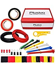 Hook Up Wire - Tinned Copper Wire, 6 Colors (Black, Red, Yellow, Green, Blue, White) Hook Up Wire Kit from Plusivo
