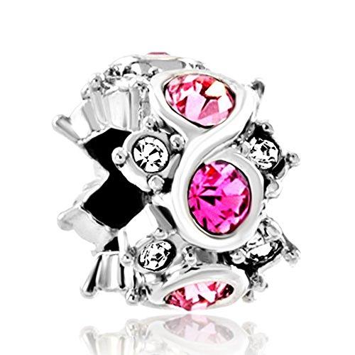 Infinity Jewelry Birthstone Crystal Bracelet