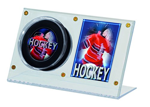 NHL Acrylic Puck and Card Holder (Acrylic Nhl Hockey Puck)