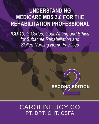 - Understanding Medicare MDS 3.0 for the Rehabilitation Professional: ICD-10, G Codes, Goal Writing and Ethics for Subacute Rehabilitation and Skilled Nursing Home Facilities