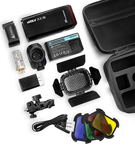 Flashpoint eVOLV 200 TTL Pocket Flash Dual Head Pro Kit - Adorama Exclusive Kit by Flashpoint (Image #4)