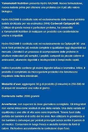 Yamamoto Nutrition Hydro Razan Suplemento Alimenticio Sabor Chocolate - 700 gr