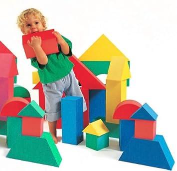 Edushape Giant Foam Blocks Construction Toy - 32 pcs: Amazon.co.uk ...