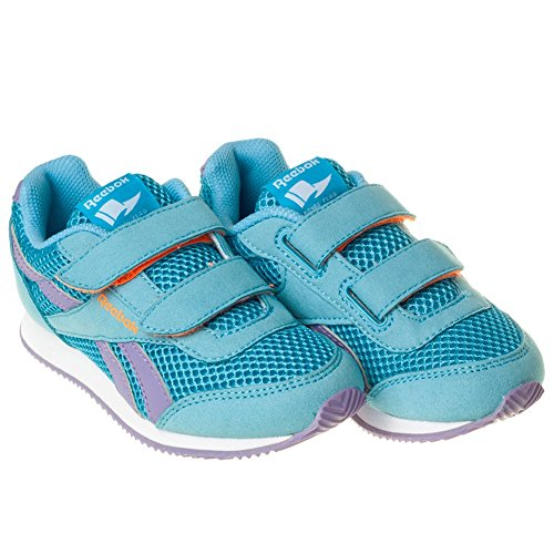 Reebok Royal Cljog 2rs 2v, Zapatillas de Running Para Niñas Azul / Morado / Naranja (Blue Splash / Smoky Violet / Electric Peach)
