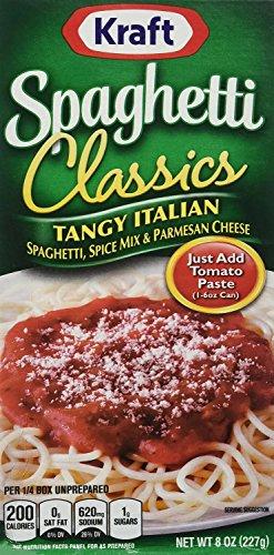 Kraft Tangy Italian Spaghetti Spice Mix & Parm - 8 oz - 3 Pack ()