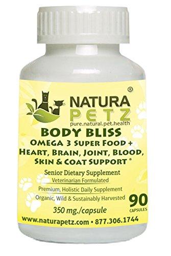 Natura Petz Organics Body Bliss Omega 3 Super Food + Heart/Brain/Joint/Blood/Skin & Coat Formula for Senior Pet by Natura Petz Organics